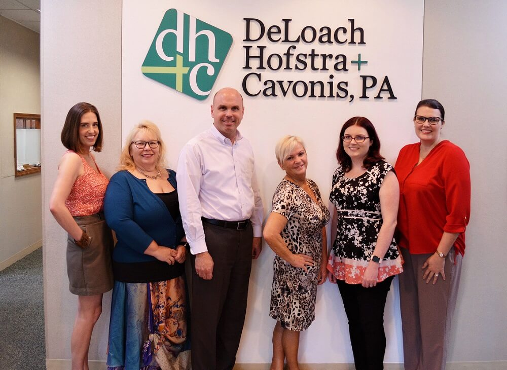 Our personal injury and estate planning client Eva with the DHC team