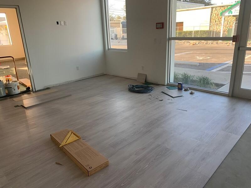 New lobby flooring