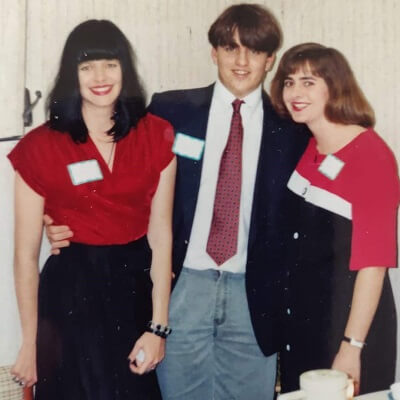 Attorney Rep DeLoach as a young student with sisters Julie and Susan