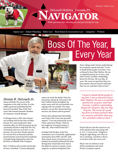 Spring 2019 Navigator newsletter cover