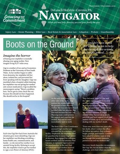 November and December 2020 Navigator Newsletter Cover