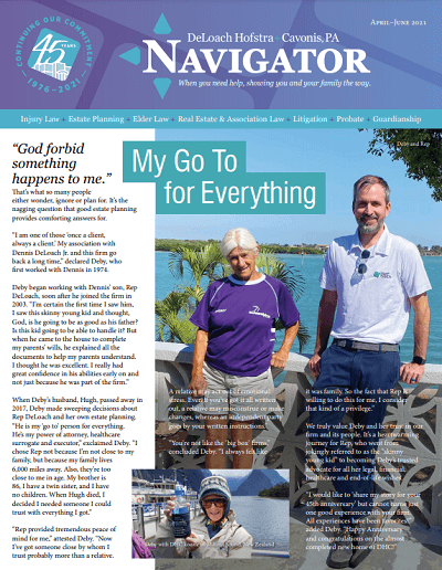 April / May / June Navigator newsletter cover