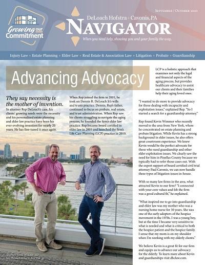 September and October 2020 Navigator newsletter cover