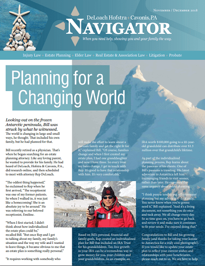 November and December 2018 Navigator Newsletter Cover