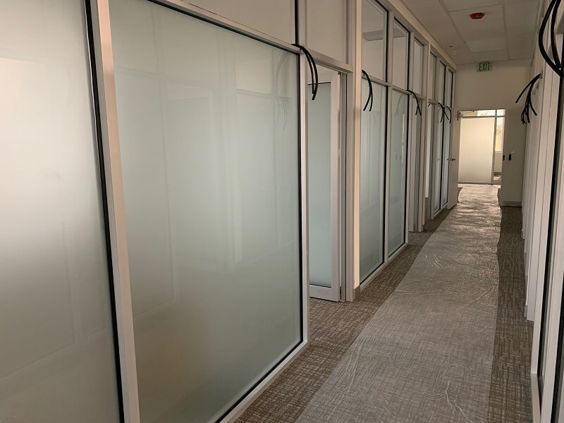 Offices on the first floor are installed