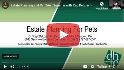 Pet planning video