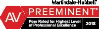 Attorney Marindale-Hubbel AV Preeminent Badge 2018