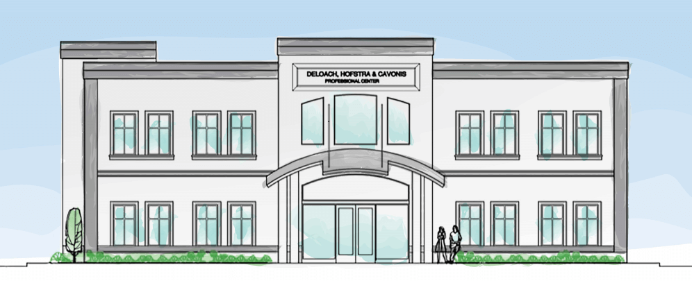 Rendering of our new building and location