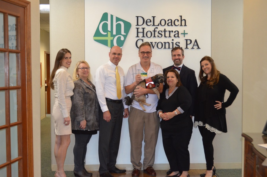Our client Ron and the Elder Law Team at DeLoach, Hofstra & Cavonis