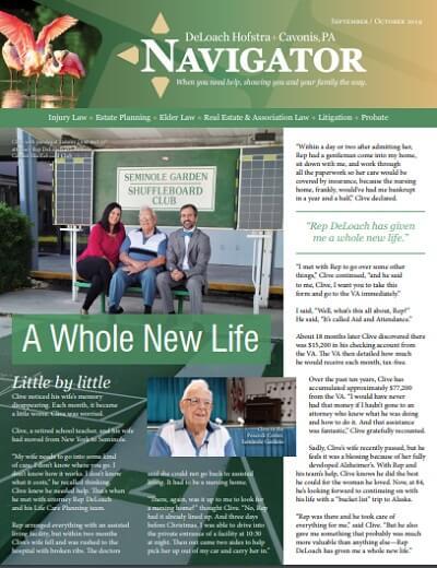 Fall 2019 Navigator newsletter cover