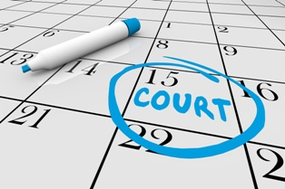 Reckless Driving Court Date Circled on a Calendar