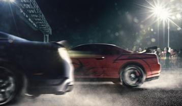Drag Racing Cars on a Virginia Highway