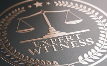 Expert Witness Stamp With Scales of Justice