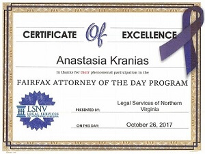 Fairfax Attorney of the day Program Award