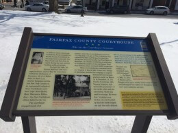 Fairfax County Courthouse Sign
