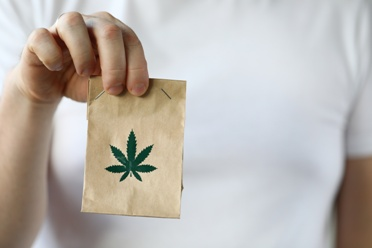 Gift Bag With Marijuana