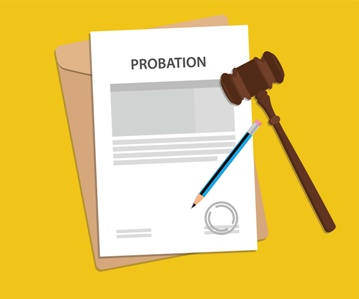 Probation Paperwork With a Gavel