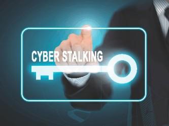 Cyberstalking Key Icon