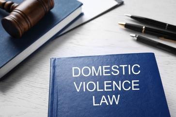 Domestic Violence Law Book With a Judge's Gavel