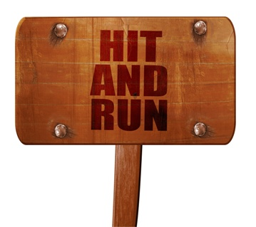 Wooden Hit and Run Sign