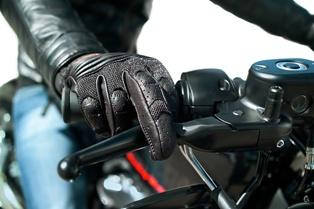 A Motorcyclist on a North Carolina Road