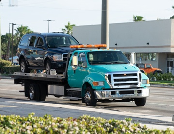 Siezed Car on Tow Truck Bed
