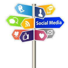 Signs for Numerous Social Media Platforms