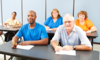 Various Adults Attending a Traffic School Class