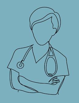 Silhouette of a nurse