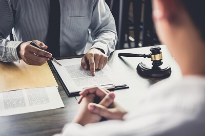 Free attorney consultation with injured client
