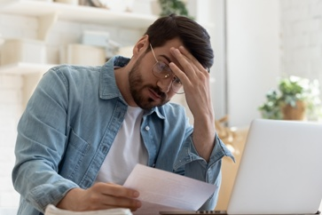 Man Looking at a LTD Denial Claim