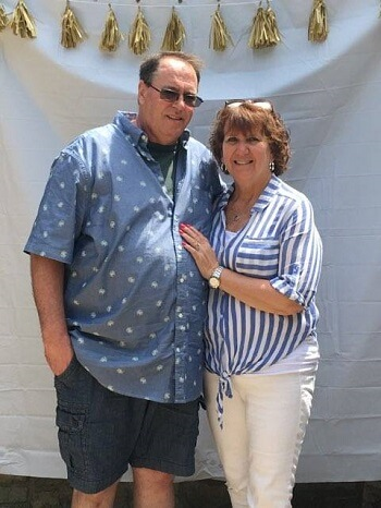 Our client Kevin and his wife Patti who we worked with to handle a workers comp claim
