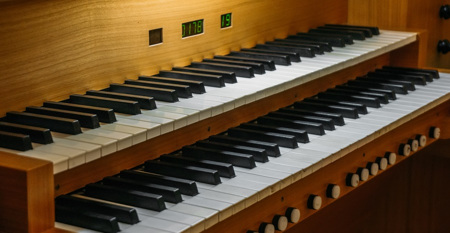 Piano in church