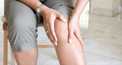 Injured worker suffering knee pain from reflex sympathetic dystrophy