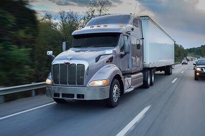 Semi truck on Ohio highway