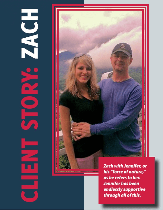 Our client Zach and Jennifer