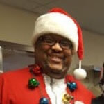 Our client Willie dressed up like Santa