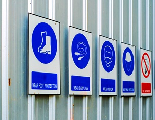 hazard signs to prevent occupational diseases and work injuries