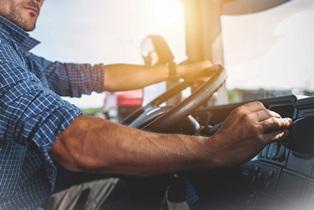 Ohio truck driver driving semi truck