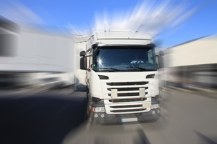 Accidents caused by speeding truck drivers