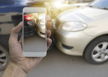 Hagerstown personal injury lawyer documenting an accident