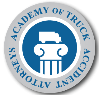 academy of truck accident attorneys badge