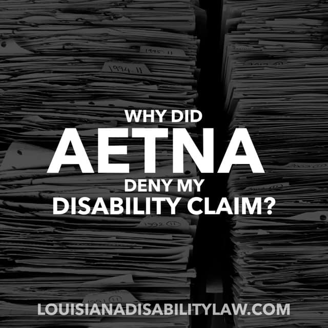 Aetna Long-Term Disability Denied