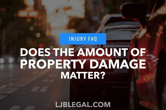 Does the amount of damage to your car matter in your injury case?