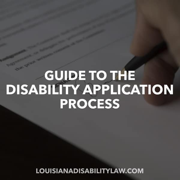 Guide to the Disability Application Process