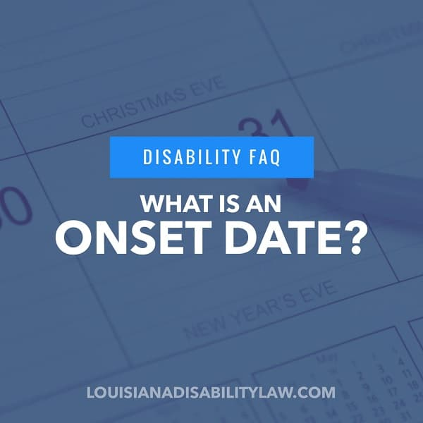 What is a Disability Onset Date?