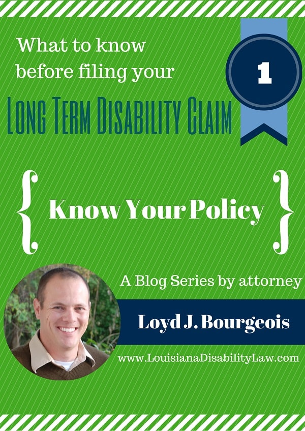 Know Your Long-Term Disability Policy