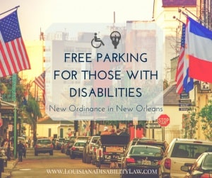 Free Parking for Disabled in New Orleans