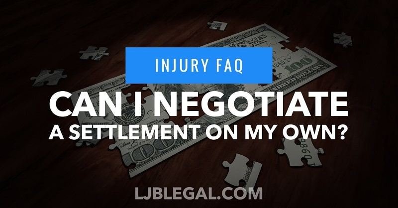 Can I negotiate my own personal injury claim?