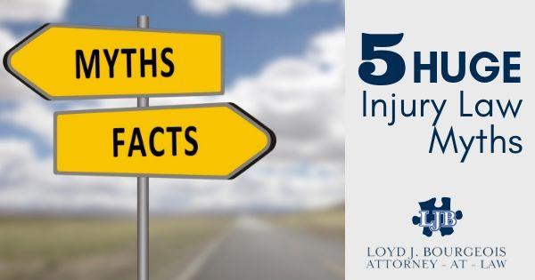 5 Huge Injury Law Myths